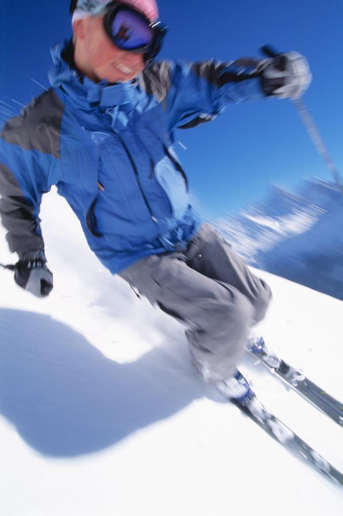 Downhill Snow Skier