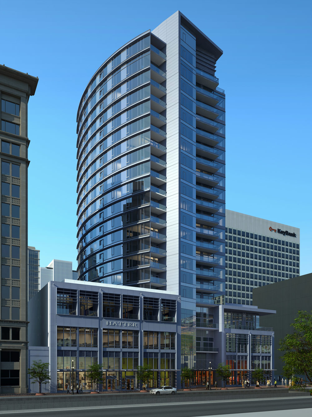 Tower in downtown Salt Lake City at City Creek